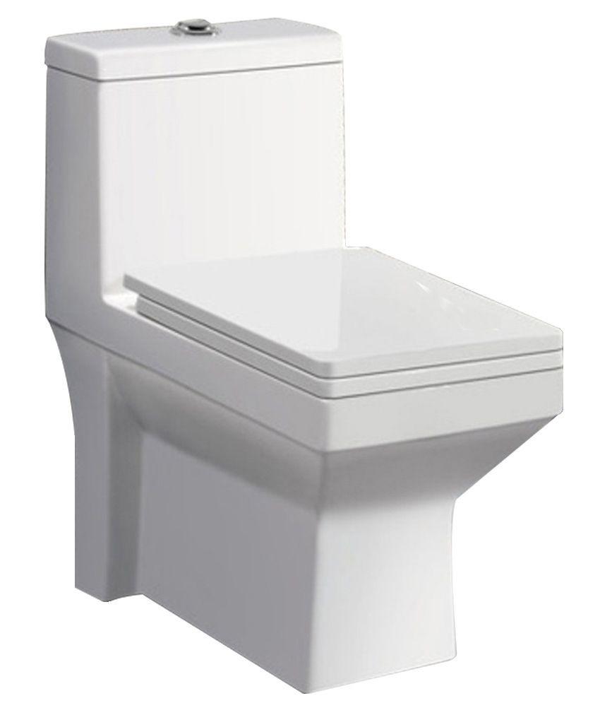 Buy Combo of BM Belmonte Western Commode Toilet Ripone with Lotus P...