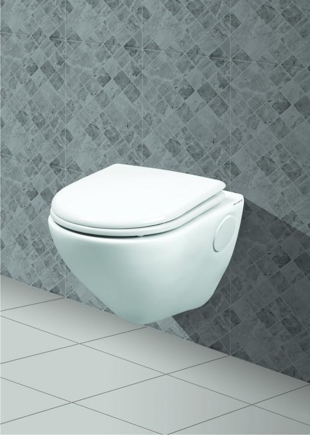 Belmonte Wall Hung Water Closet Titan   White Online In India   Var.