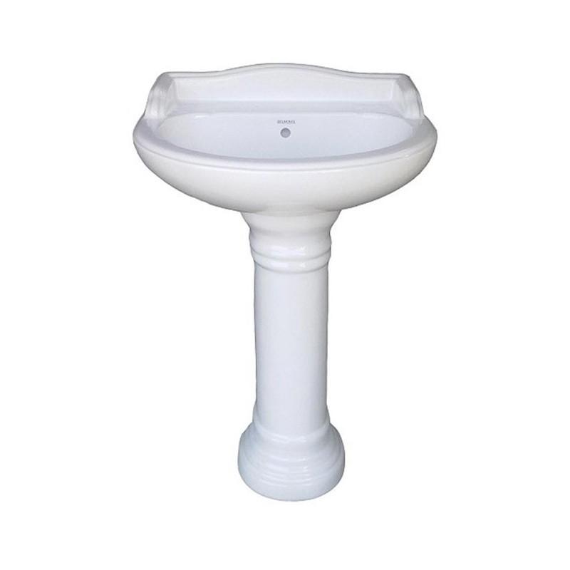 Belmonte Pedestal Wash Basin Vinus - White