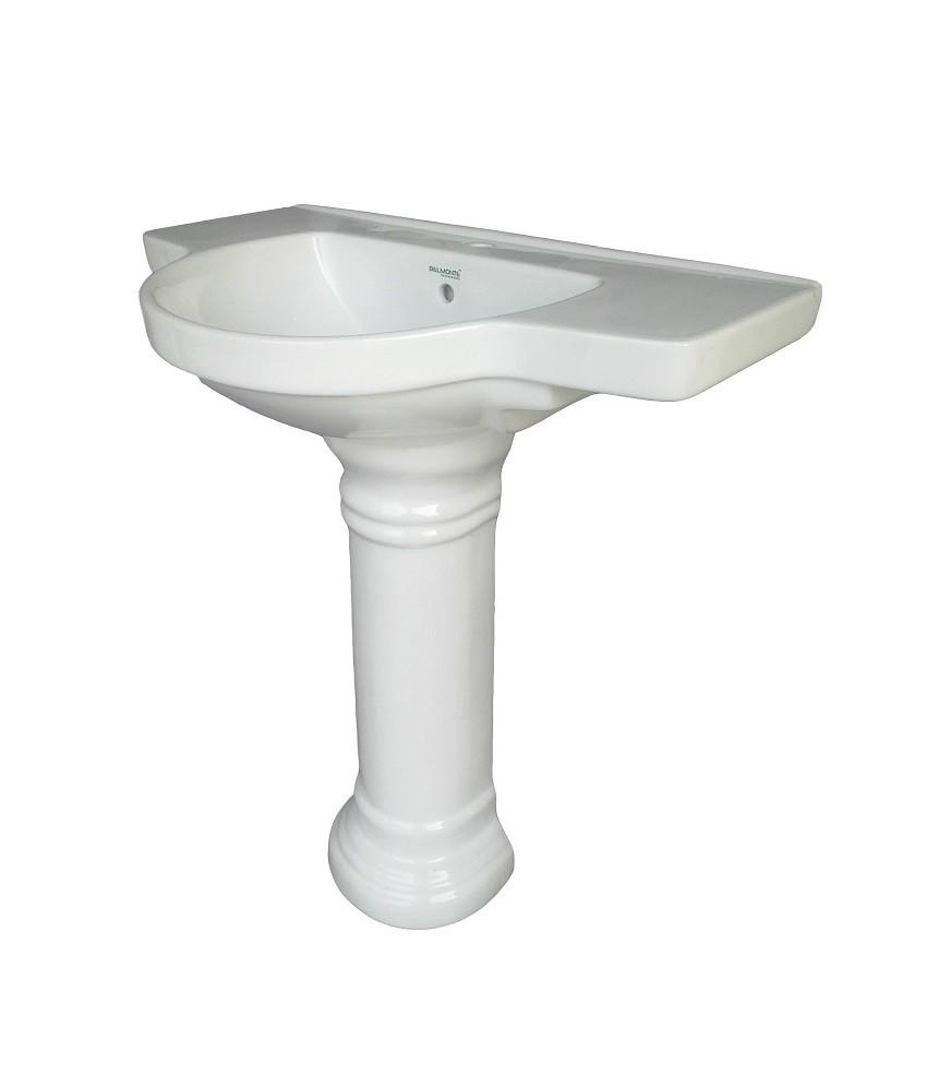 18 Inch Pedestal Sink : Buy Belmonte Wash Basin Counter 30 Inch X 18 Inch With Pedestal - W...