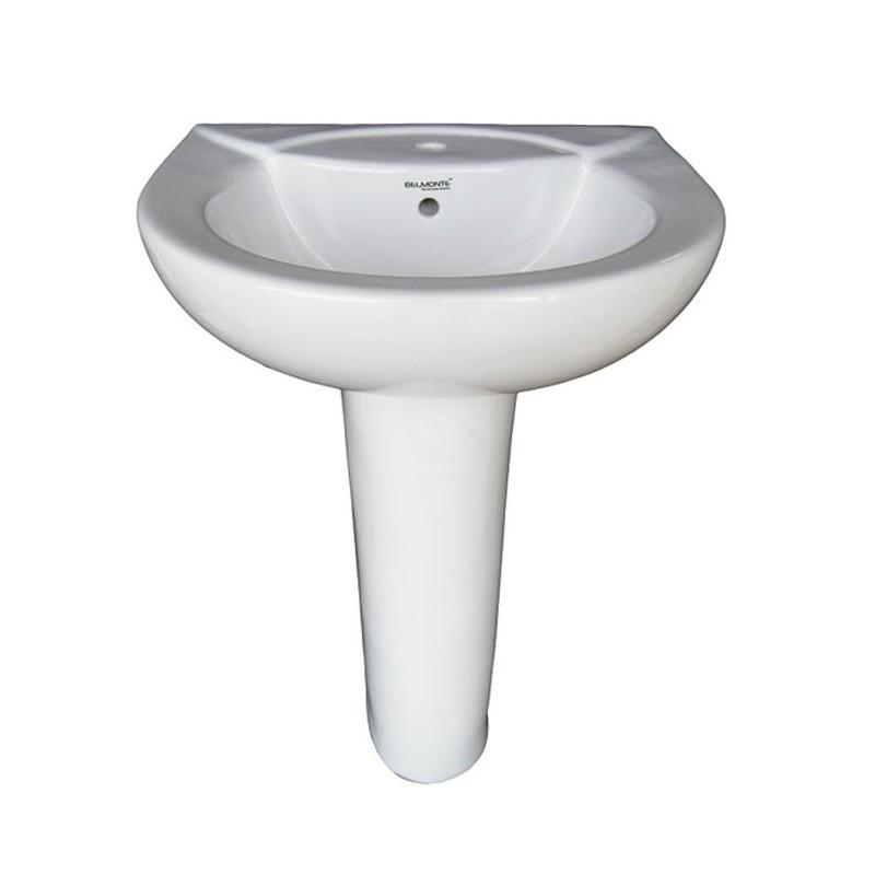 Belmonte Pedestal Wash Basin Royal - White