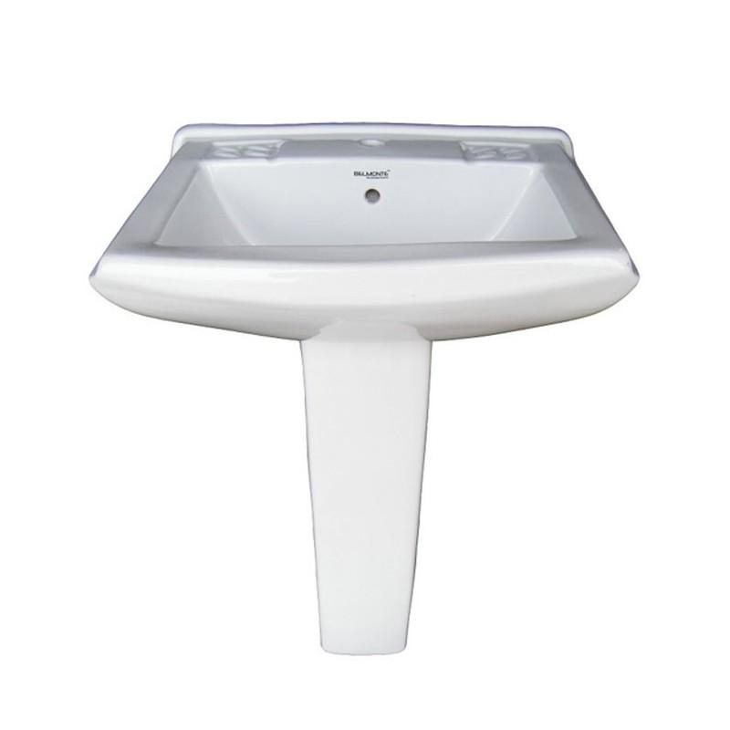 Belmonte Pedestal Wash Basin Sofia - White