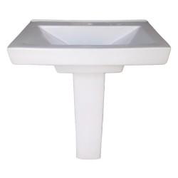 Belmonte Pedestal Wash Basin LCD - White