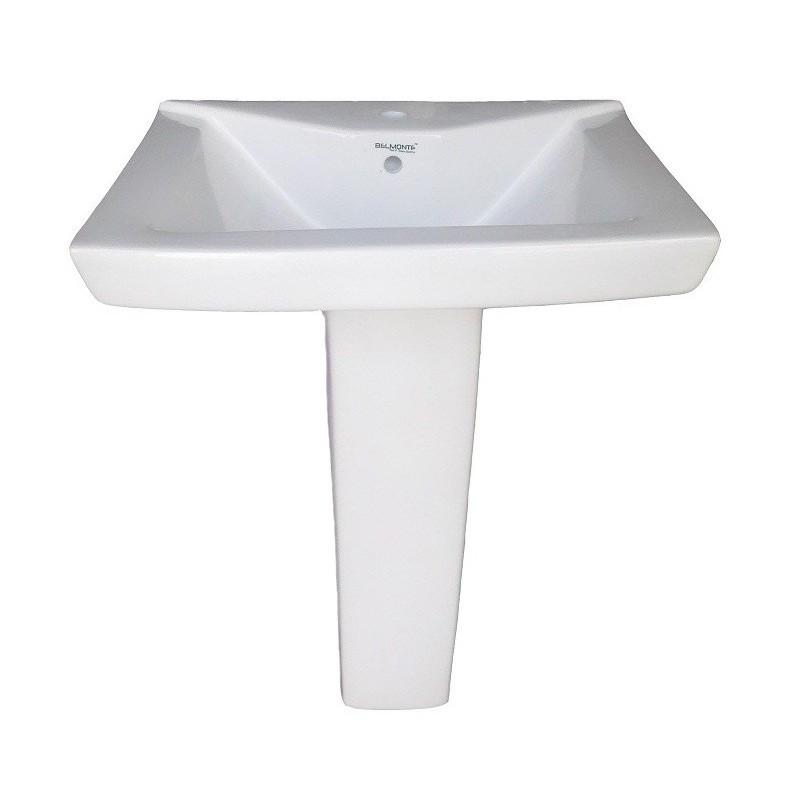 Belmonte Pedestal Wash Basin Small LCD - White
