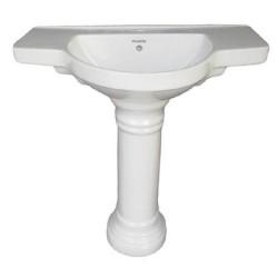Belmonte Pedestal Wash Basin Counter - Ivory