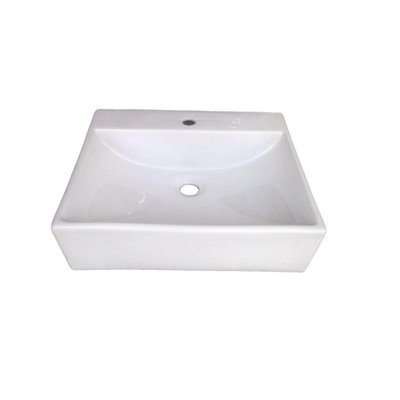 Belmonte Table Top Wash Basin Casanova 18 Inch X 15 Inch - White