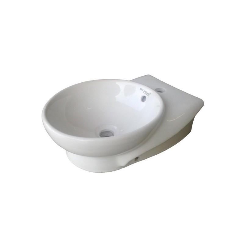 Belmonte Table Top Wash Basin Ovo 12 Inch X 17 Inch - White
