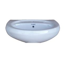 Belmonte Wash Basin Cera 22 Inch X 16 Inch Without Pedestal - Ivory