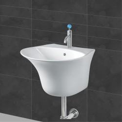 Belmonte Semi Pedestal Wash Basin Berlin - Ivory