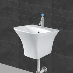 Belmonte Semi Pedestal Wash Basin Kubica - White