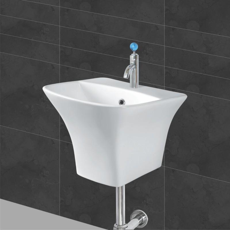 Belmonte Semi Pedestal Wash Basin Kubica - Ivory